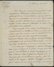 Letter from Frederick the Great to Voltaire 1766 Aug 7, digitized by USC.