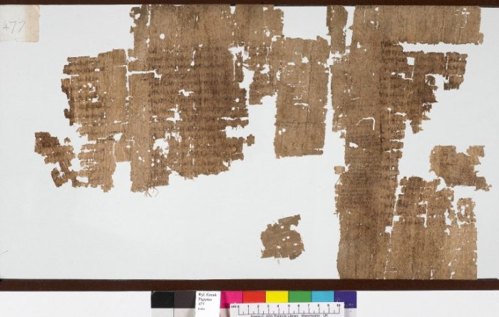 Greek papyrus 477 John Rylands Divinatio in Caecilium recto