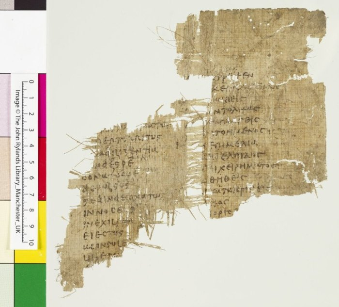 Greek papyrus 61 John Rylands Cicero In Catilinam vocab list papyrus codex verso