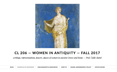Women in Antiquity, Fall 2017 #CL206